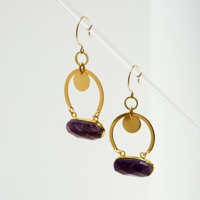 Geneva Earrings - Amethyst