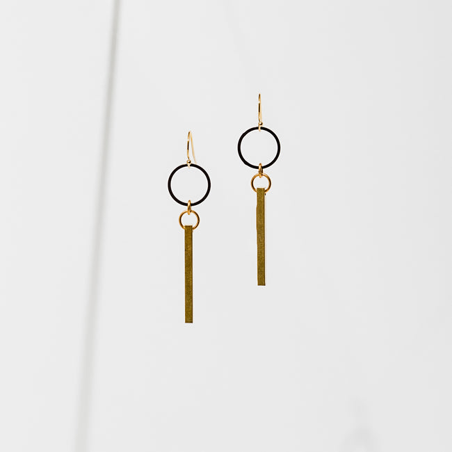 Larissa Loden Jewelry - Azibo Geometry Earrings
