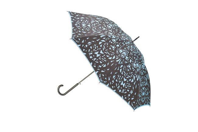 The San Francisco Umbrella Company - Butterfly Wing Long Stick Umbrella - Blue