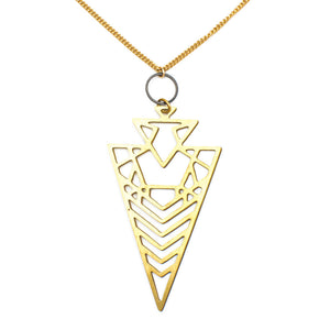 Larissa Loden Jewelry - Geo Arrowhead Necklace