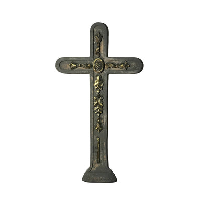 Hand-Carved Wood Cameo Wall Cross