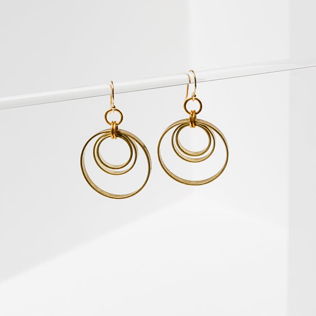 Larissa Loden Jewelry - Concentric Circles Earrings
