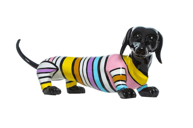 "Stripe Dachshund Dog -  19"" long"