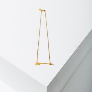 Larissa Loden Jewelry - Small Arrow Necklace - Brass