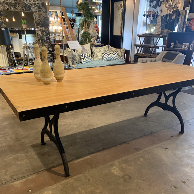 Bowling Lane Table & Matching Bench