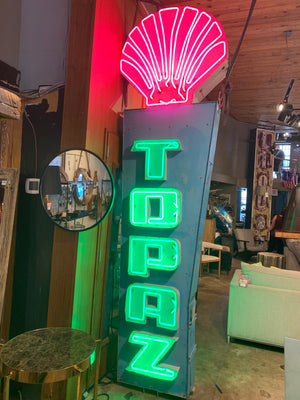 Topaz Neon Sign - Restored 2017
