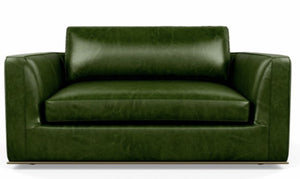 shown in armchair for leather color