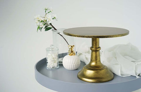 25cm cake -pan wedding props dessert table golden cake stand cake shop window display snack tray