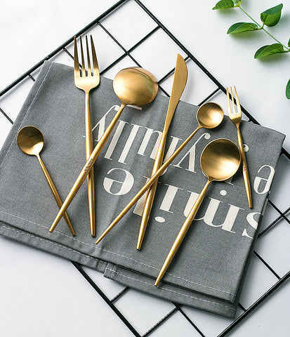 Annie Matte Gold Flatware Set