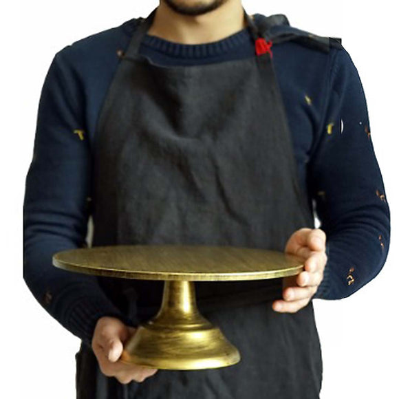 Rustic Gold Cake Stand - 30cm