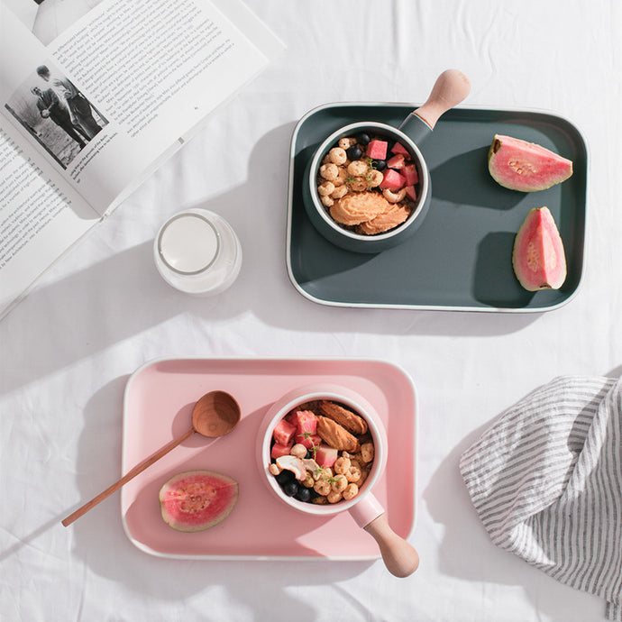 Ceramic Breakfast Bowl & Plate Set