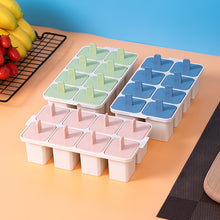 Charger l'image dans la galerie, 8 Removable Square Popsicle Ice Moulds with Base