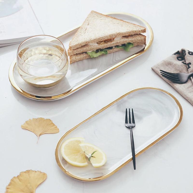 Not just for serving food, these beautiful quality ceramic platters is perfect to display as decorative trays for holding small items or pieces of jewelry.
