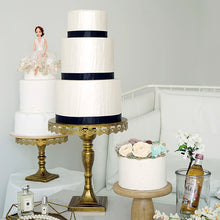 Load image into Gallery viewer, Rustic Gold Lace Cake Stand
