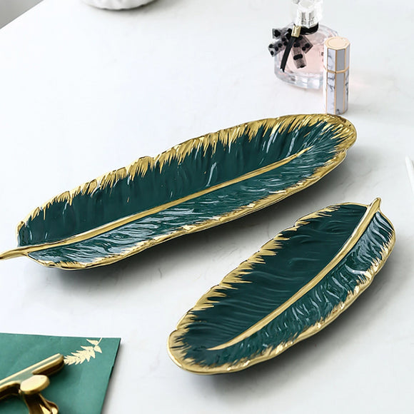 Not just for serving food, these beautiful quality ceramic platters that is perfect to display as decorative trays for holding small items or pieces of jewelry.