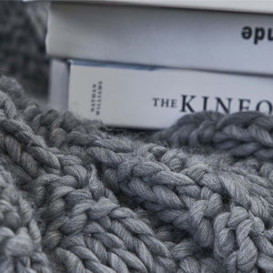 Soft, cozy blanket throw to curl up with your favorite book or a hot beverage and for braving the chilly seasons.
