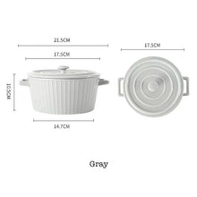Load image into Gallery viewer, Ceramic Baking Bowl with Lid Cover