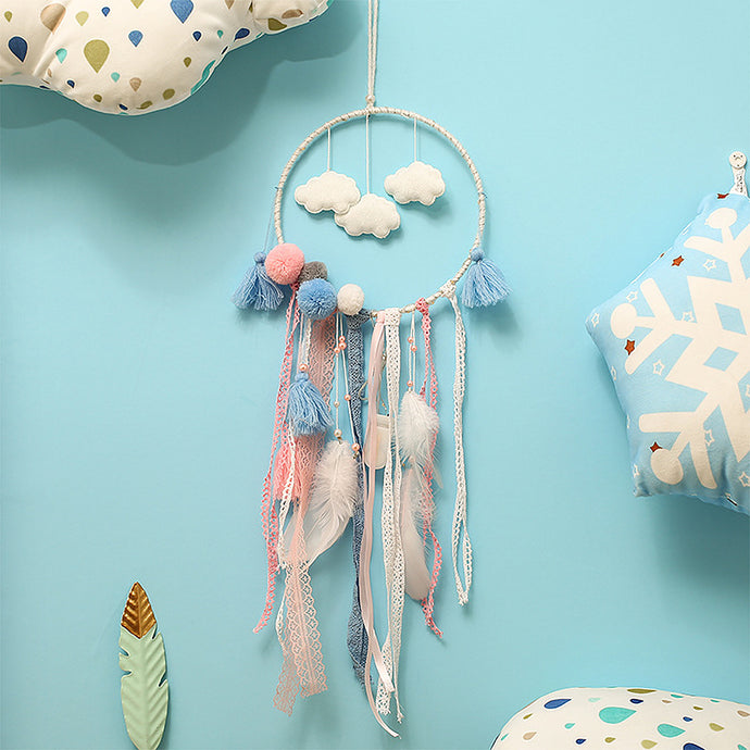 Add the final perfect lovely touch for themed nursery, bedroom or creative space with this dreamy cloud in pink, blue and white.