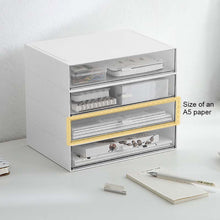 Load image into Gallery viewer, Desktop Stacking Plastic Storage Drawers