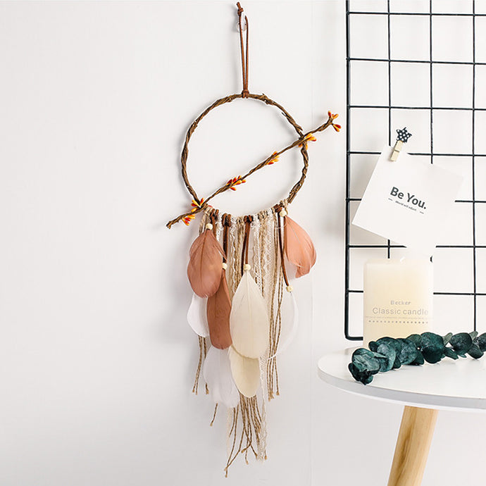 Add the final perfect earthy touch for themed nursery, bedroom or creative space.  Dreamcatcher symbolizes protection, happiness, harmony and luck which makes an ideal gift to your loved ones or friends.