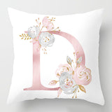 Monogram Floral Cushion Cover