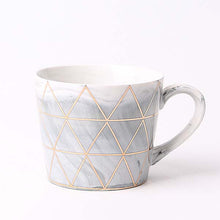 Load image into Gallery viewer, Gold Geometric Marble Mug