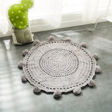 Load image into Gallery viewer, Decorate and furnish your home with our selection of Floor Mats and Door Mats for all room decor. This cute yarn knitted is perfect and safe for kid's or baby's room.