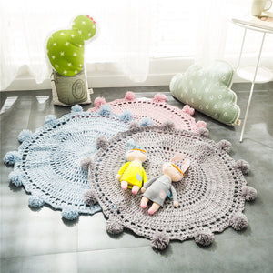 Decorate and furnish your home with our selection of Floor Mats and Door Mats for all room decor. This cute yarn knitted is perfect and safe for kid's or baby's room.