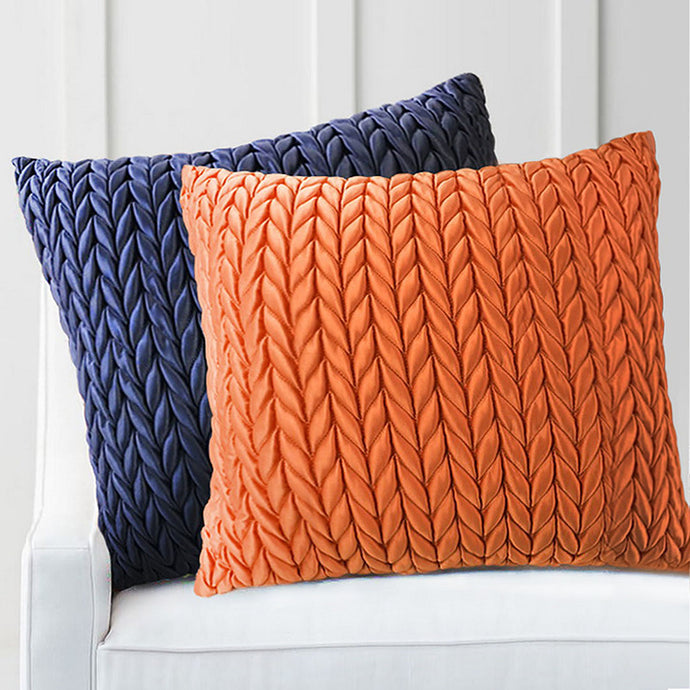 Stylish herringbone satin cushion to add to your room decor. Layer or mix and match with this cushion to add a luxurious touch to your sofa, armchair or bed.