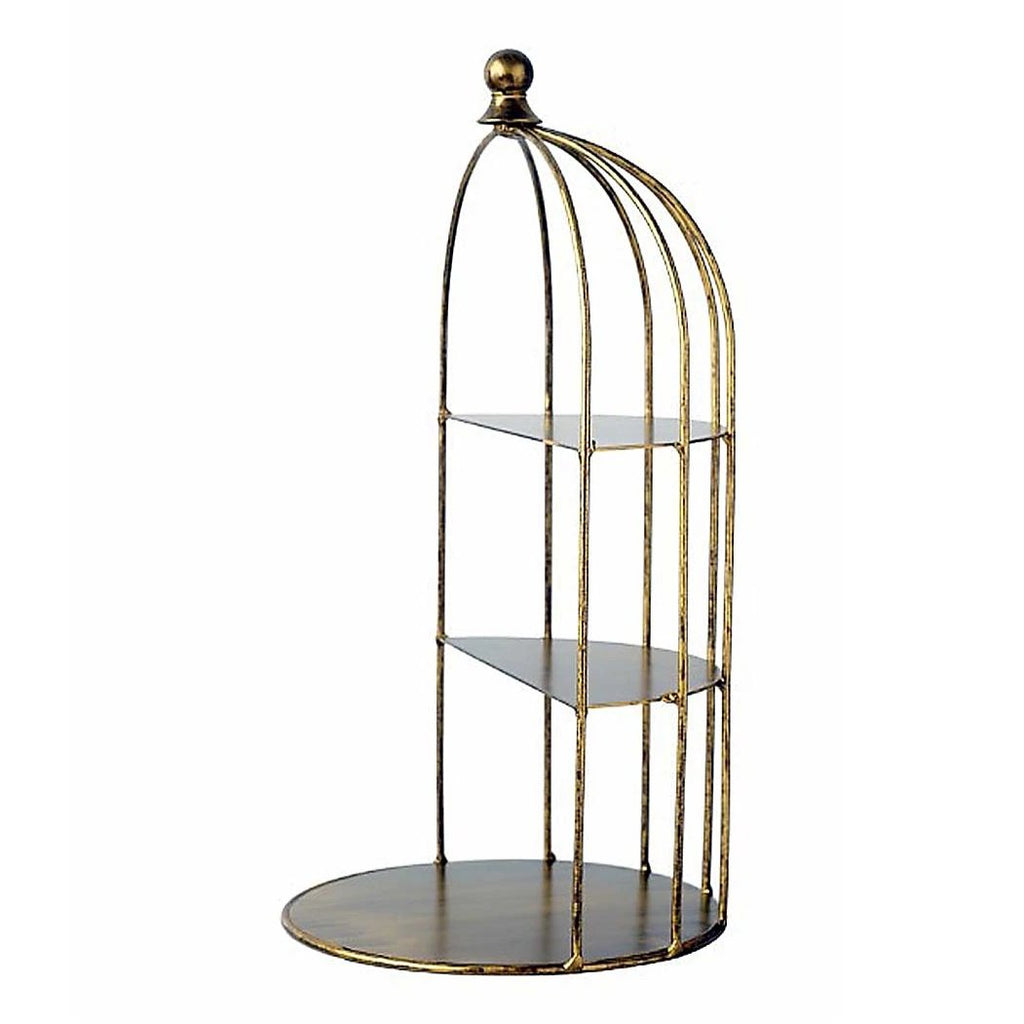 Rustic Gold Bird Cage Cake Stand