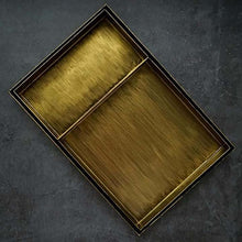 Charger l'image dans la galerie, Display your jewellery, flowers, candles and more with this rustic vintage gold decorative steel tray.