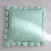 Charger l'image dans la galerie, Solid Cushion Cover White Green Orange Blue Knitted Pom pom Solid Pillow Case 45*45cm Soft For Sofa Bed Nursery Room Decorative Mint Green