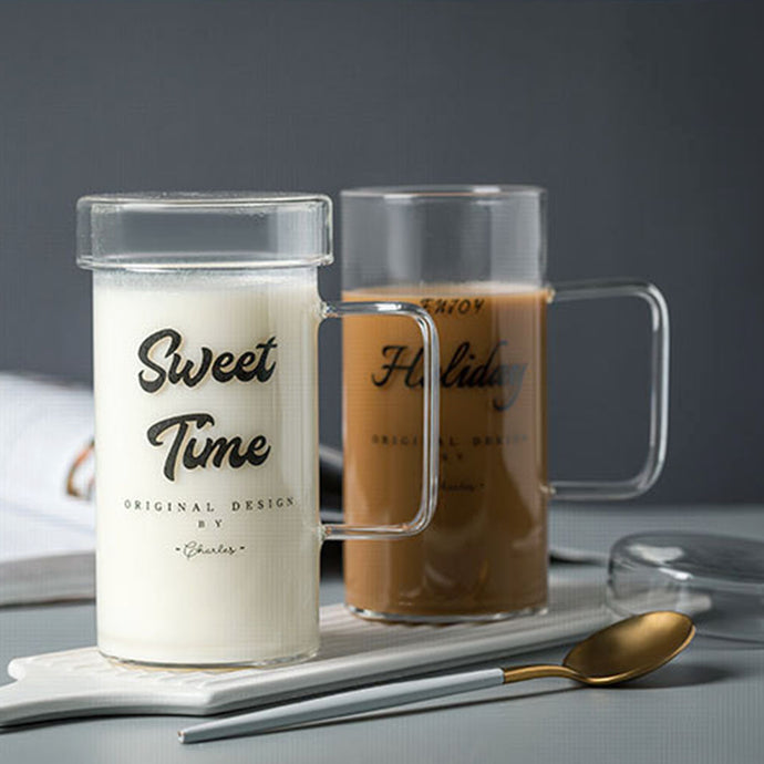 Tall glass mug perfect for your hot or cold beverages. Made with quality borosilicate glass for durability and heat resistance. Mug is microwave and dishwasher safe.