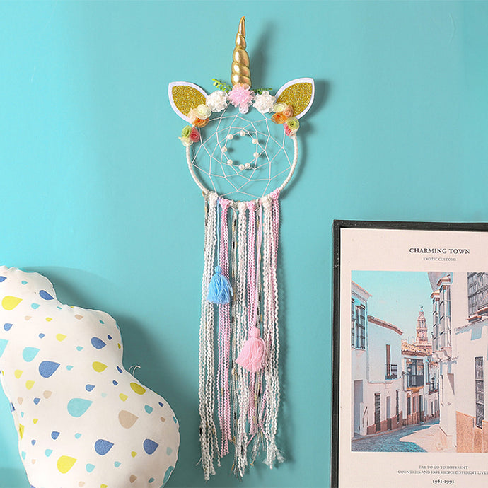 Add the final perfect lovely touch for themed nursery, bedroom or creative space.  Dreamcatcher symbolizes protection, happiness, harmony and luck which makes an ideal gift to your loved ones or friends.