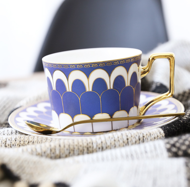 Matching set of cup and saucer are a great way to enjoy a nice cup of tea or coffee. Comes in blue and pink. Set of 3 includes a saucer, cup and a teaspoon.