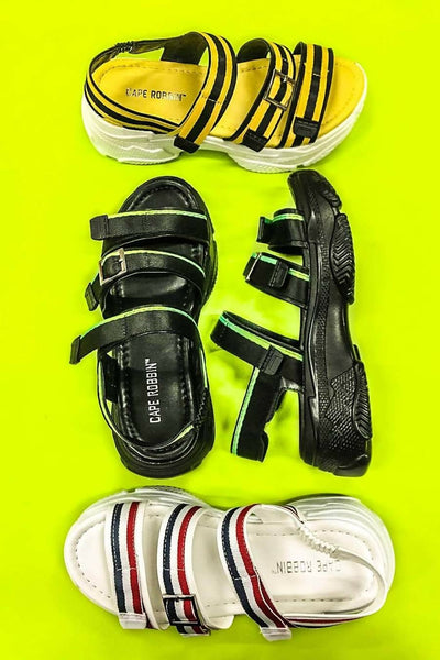 Cape Robbin Bumble Bee Tourist Sandals