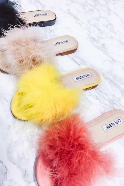 Cape Robbin Sandal 1 Feathery Statement Sandals