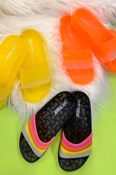 Cape Robbin Crime Glow Jelly Sandals for sale on FlashyBox.com