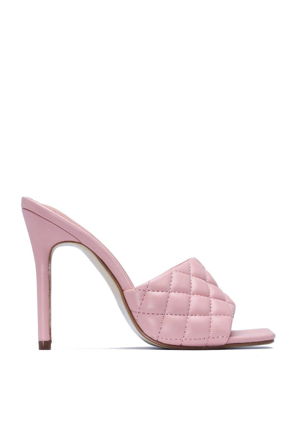 STITCH SQUARE STILETTO SANDAL-BLUSH
