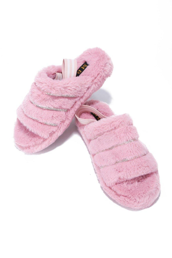 PARISA TIME FOR A NAP FUR SANDALS-BLUSH