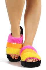 PARISA TIME FOR A NAP FUR SANDALS-MULTI COLOR