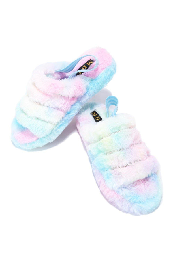 PARISA TIME FOR A NAP FUR SANDALS-PASTEL