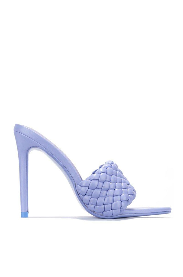 ANSON BOOKED AND BUSY HEELED MULE-PERIWINKLE