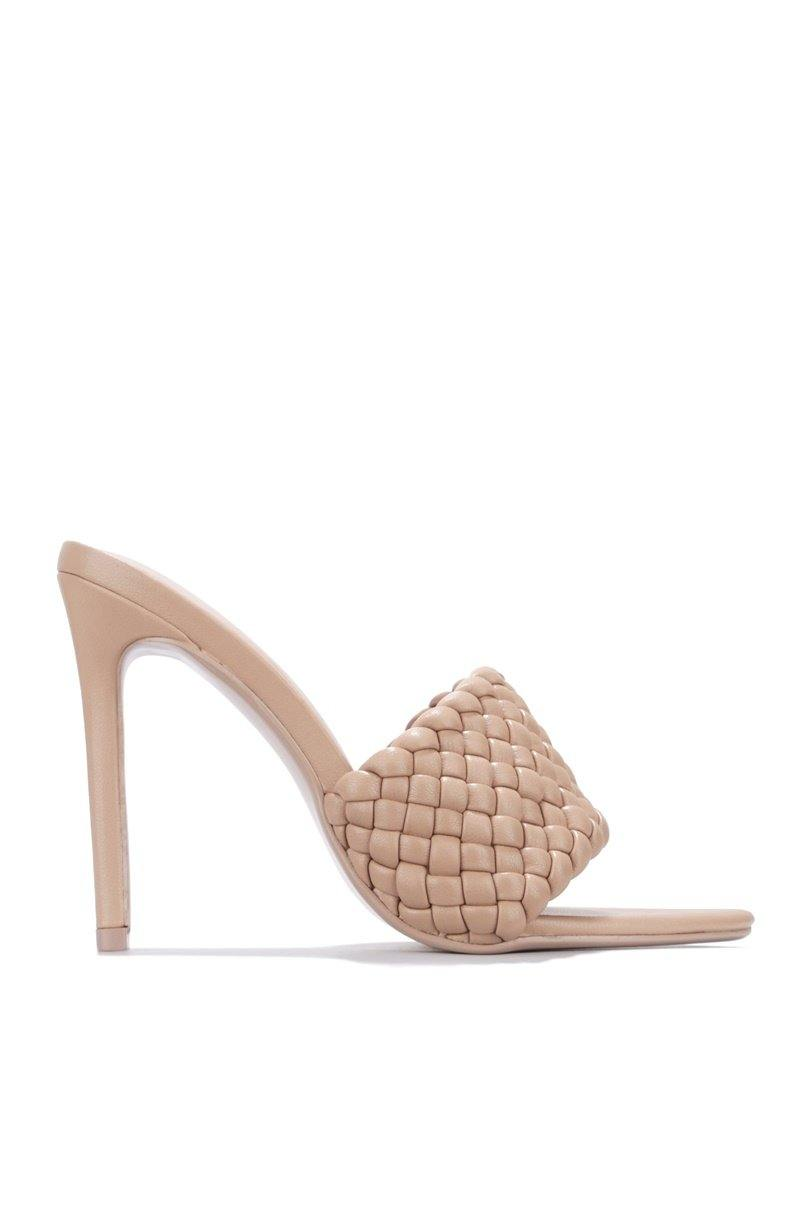 ANSON BOOKED AND BUSY HEELED MULE-NUDE