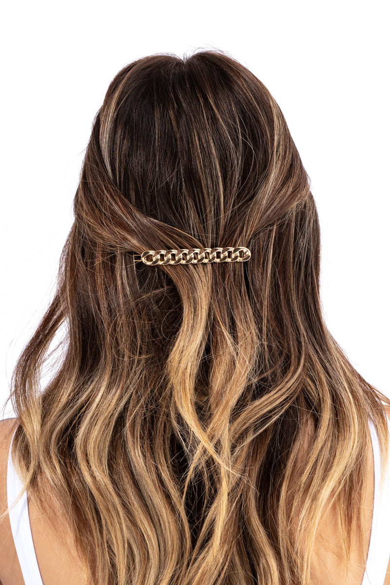 MELTED METAL HAIR CLIP-GOLD