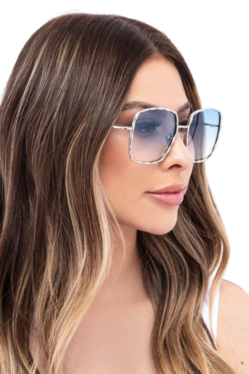 CLEARLY INTO YOU SUNGLASSES-BLUE