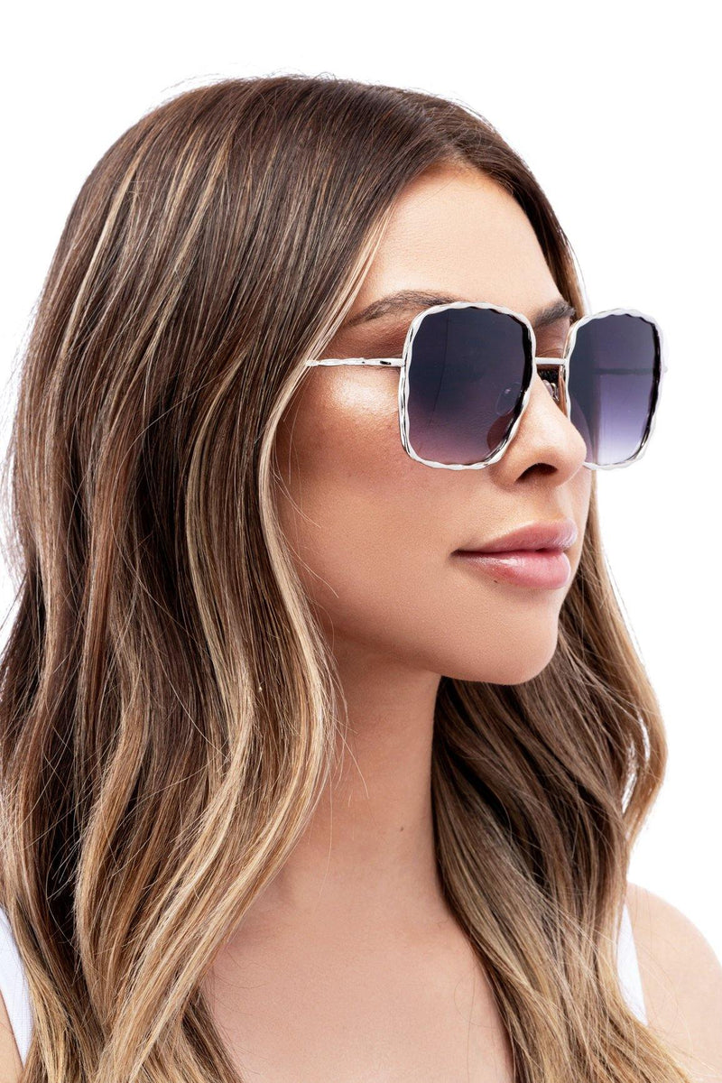 CLEARLY INTO YOU SUNGLASSES-SILVER