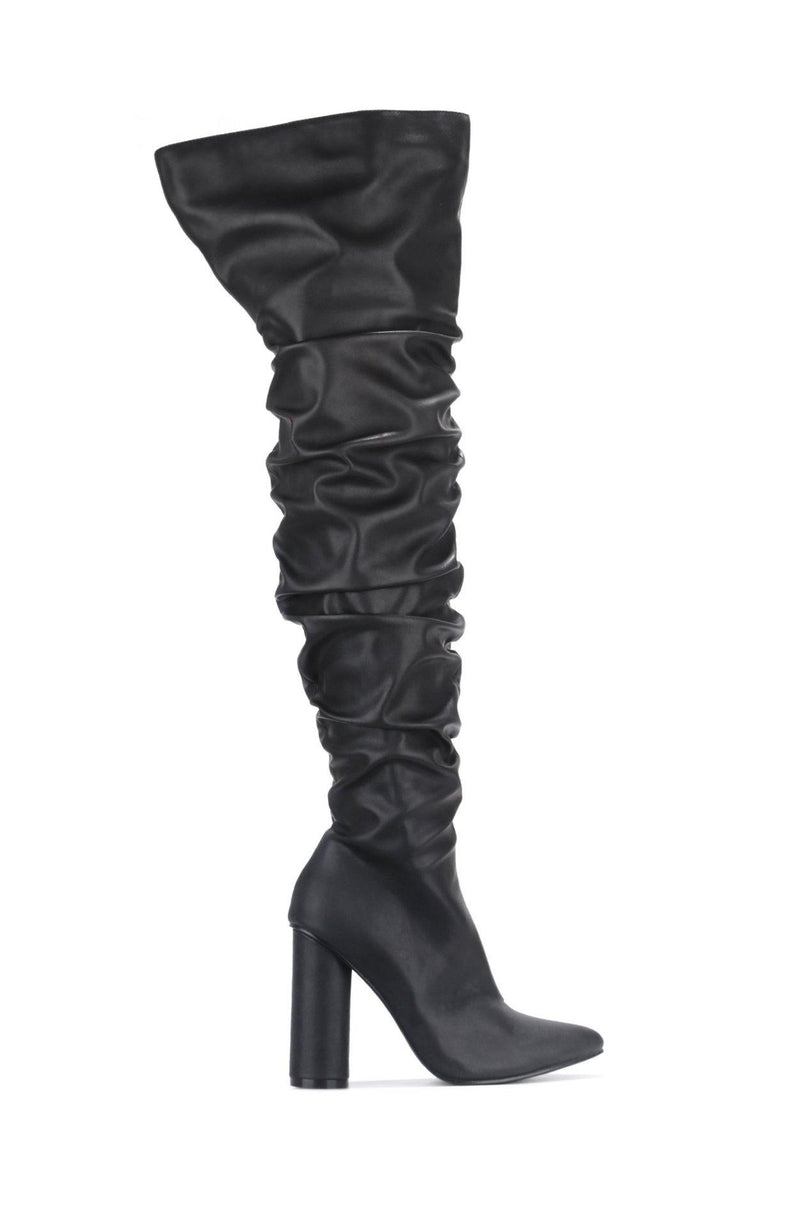 ADORE YOU THING HIGH BOOTS-BLACK