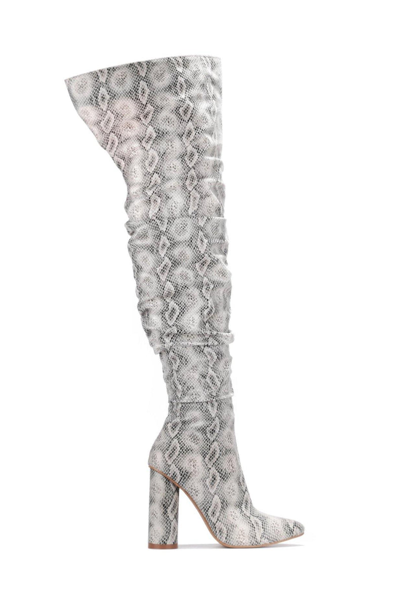 ADORE YOU THING HIGH BOOTS-SNAKE