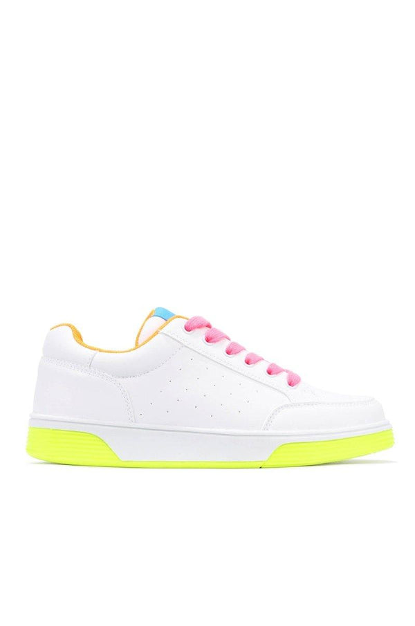 WEDGIE STAY COLORFUL AND CUTE SNEAKERS-LIME